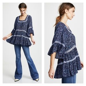 FREE PEOPLE Talk About It Tunic in Midnight Combo